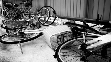 えらいこっちゃの自転車置き場