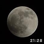 写真:皆既月食前の満月